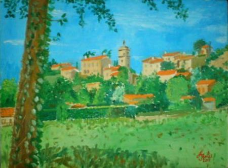 Maubec vu du Luberon