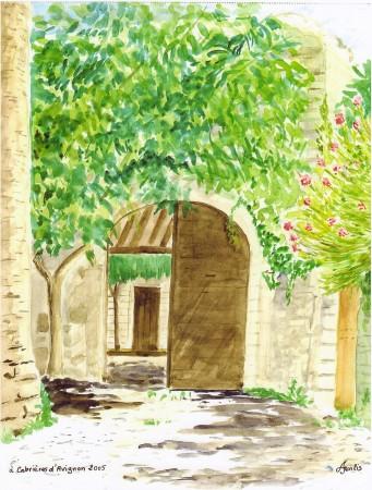 Portail à Cabrière d'Avignon.