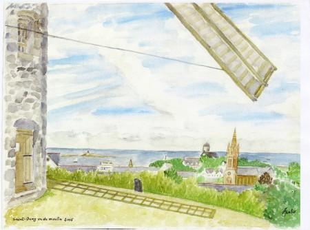 Saint Quay vu du moulin.