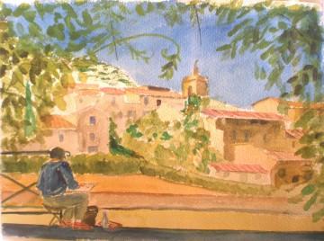 Villages autour du luberon en peinture n 14 peintures for Peinture du liberon
